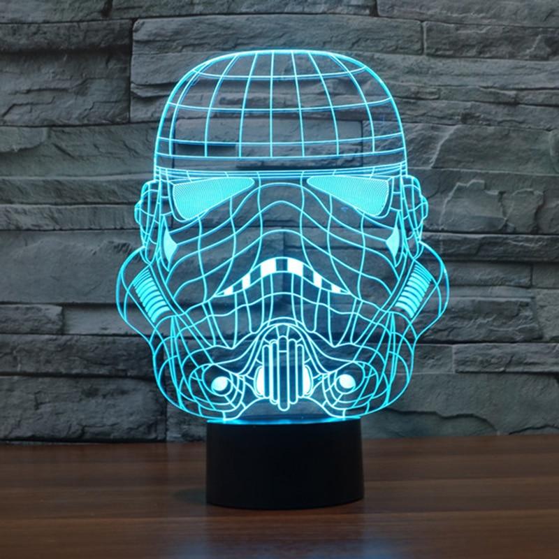 Star Wars Lamp Night Light Storm Trooper White Soldier luminaria de mesa LED Night Light 7