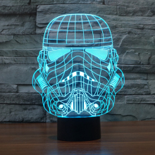 Star Wars Lamp Night Light Storm Trooper White Soldier luminaria de mesa LED Night Light 7 colors Switch Decorative lighting