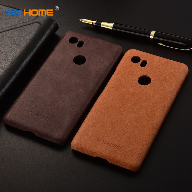 best cheap b4fcd ed68b US $11.98 |KEZiHOME Luxury Genuine Leather Case for Google Pixel 2 XL Plain  Anti knock Hard Back Cover for google Pixel 2XL case for google-in ...