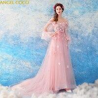 Роскошные Благородный розовый для беременных Вечерние платья для беременных Abendkleider кристаллы элегантный Для женщин длинные платья выпуск