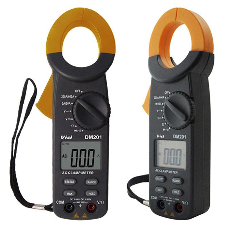 ФОТО VICI DM201 3 1/2 Digital LCD Auto Range Voltmeter Resistance Clamp Multimeter DMM