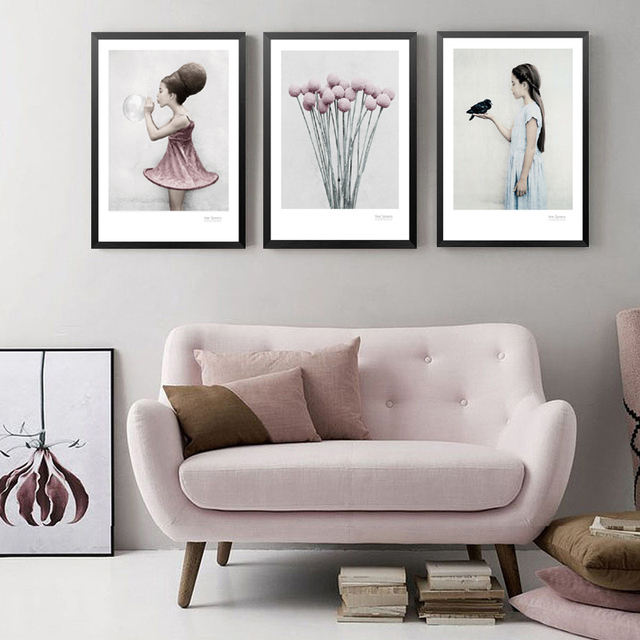 Cuadros Decoracion Wall Art Poster Flowers Canvas Art Print Poster ...