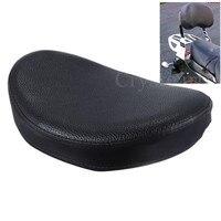 Black Universal Motorcycle Rear Passenger Backrest Sissy Bar Cushion Pad For Harley Custom Chopper Honda Yamaha