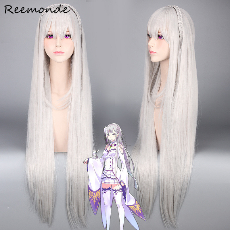Anime Life In A Different World From Zero Cosplay Costumes Felt Felix Argyle Emilia Wig Cosplay In Women Girls Halloween Party