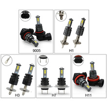 цены на 2pcs H1 H3 9006 HB4 H11 H8 H7 Auto LED Fog Light Bulb 9006 880 881 20W LED Bulb Car Daytime Running Light DRL Lamp 6500K White в интернет-магазинах