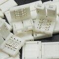 500 pçs/lote 10mm 4 pinos solderless conector faixa de led luminárias acessórios de iluminação para 5050 led light strip rgb livre grátis