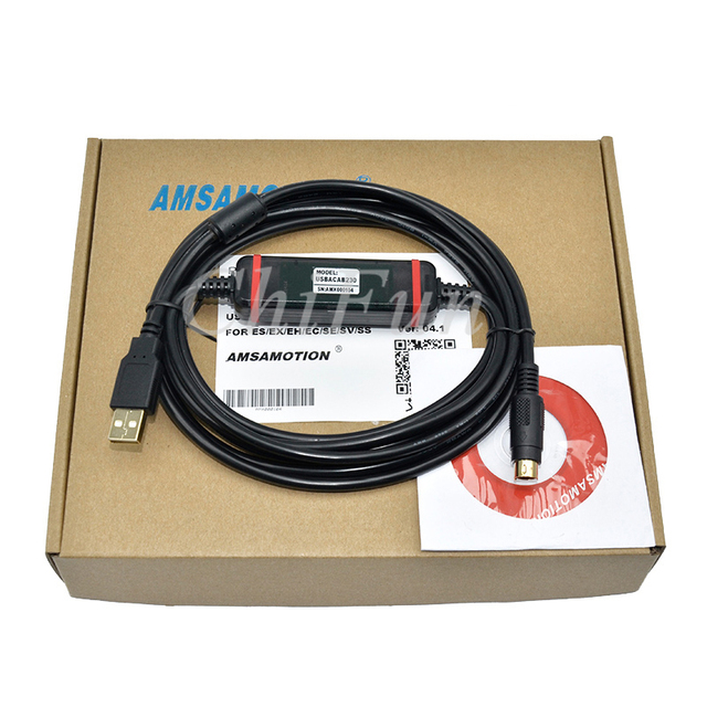 US $26 73 |Freeshipping Applicable Delta PLC programming cable  communication data download line USBACAB230 DVP ES EE SS etc -in Power  Cables from Home