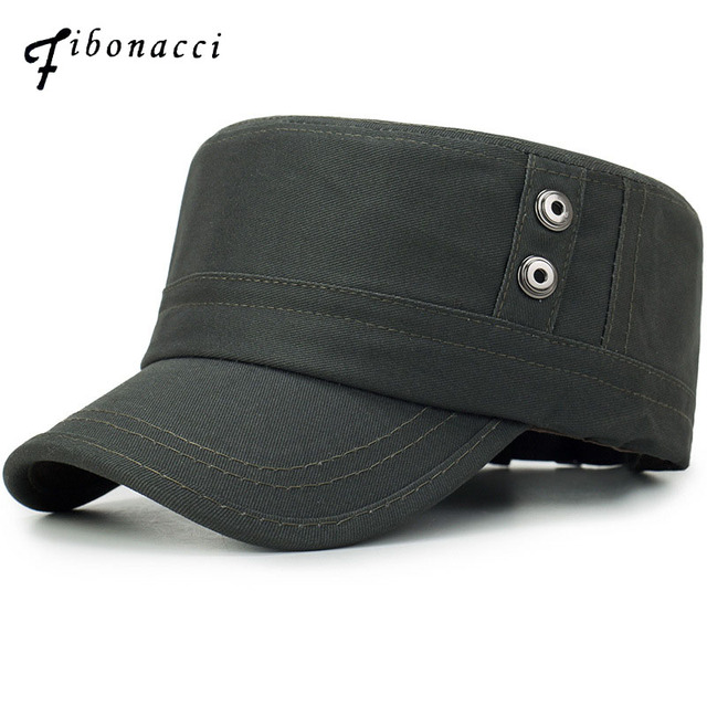 130d14a95 US $7.06 17% OFF|Fibonacci 2018 New High Quality Classic Black Military Cap  Cotton Flat Top Men Women Tactical Army Hat-in Military Hats from Apparel  ...