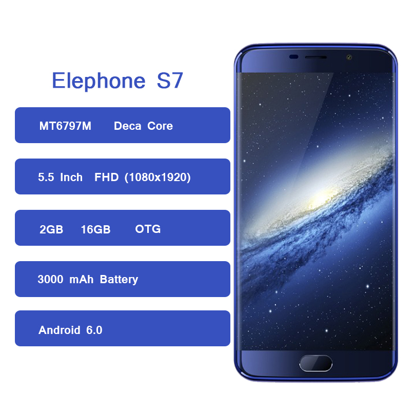 Image 2 - Elephone S7 Smartphone Android 6.0 MT6797M Deca Core 2GB RAM 16GB ROM 5.5 Inch 3000mAh OTG 4G Mobilephone-in Cellphones from Cellphones & Telecommunications