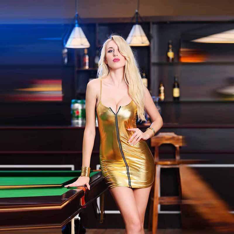 HTB1QtwZayYrK1Rjy0Fdq6ACvVXag 4XL Ladies Sexy Club Party Sheath Dress Sleeveless Spaghetti Strap Low-cut Dress Women's Clothing Front Zipper Mini Vestidos