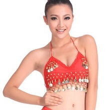 2018 High quality brand new women cheap belly dance sexy Apron tops,bellydance costume top on sale 13 color