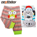 5 pcs/lot 2016 Baby Fashion Model Babe Cotton Embroider Pants Cartoon Animal Printing Baby Trousers Kid Wear Baby Pants 15-199
