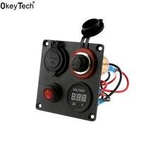 OkeyTech 2017ใหม่แบบDual USBโวลต์มิเตอร์มิ