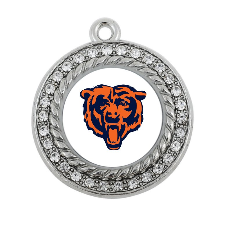 football pride Chicago Bears Round or square charm antique silver plated jewelry ...