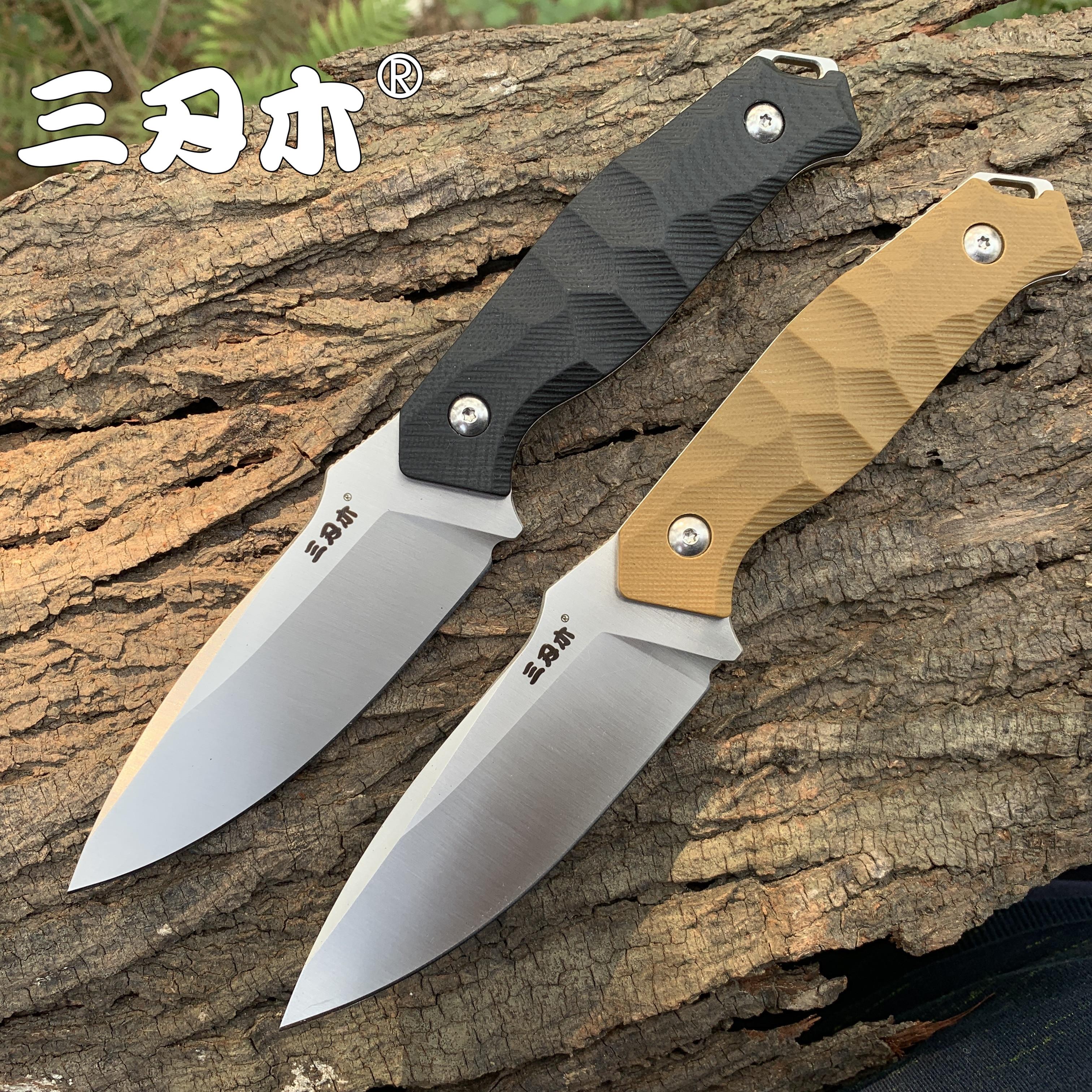 Sanrenmu S718 couteau à lame fixe avec gaine K 12C27 lame camping extérieur utilitaire survie couteau de chasse tactique outil EDC CSGO