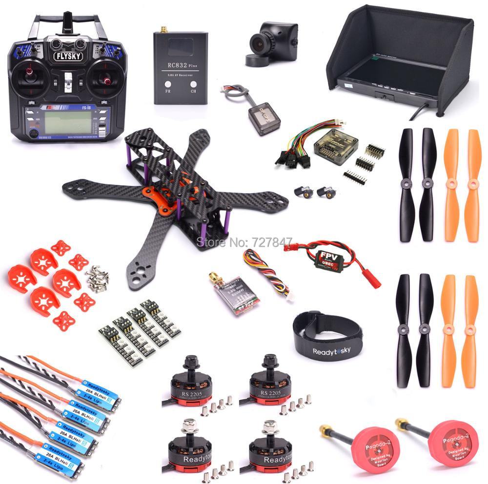 REPTILE Martian II 220 220mm Carbon Fiber Frame Kit RS2205 2300kv motor Mini BLHeli-S 20A 2-4S OPTO ESC Flysky 2.4G FS-i6 diy fpv mini drone qav210 zmr210 race quadcopter full carbon frame kit naze32 emax 2204ii kv2300 motor bl12a esc run with 4s