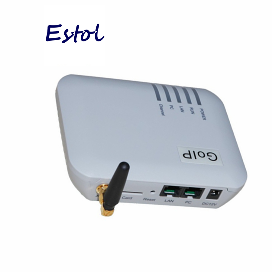 Orginal Dbl Goip 1 Chip Gsm Gateway (imei Ändern, 1 Sim-karte, Sip Und H.323, Vpn Pptp). Sms Gsm Voip Gateway-förderung Grade Produkte Nach QualitäT