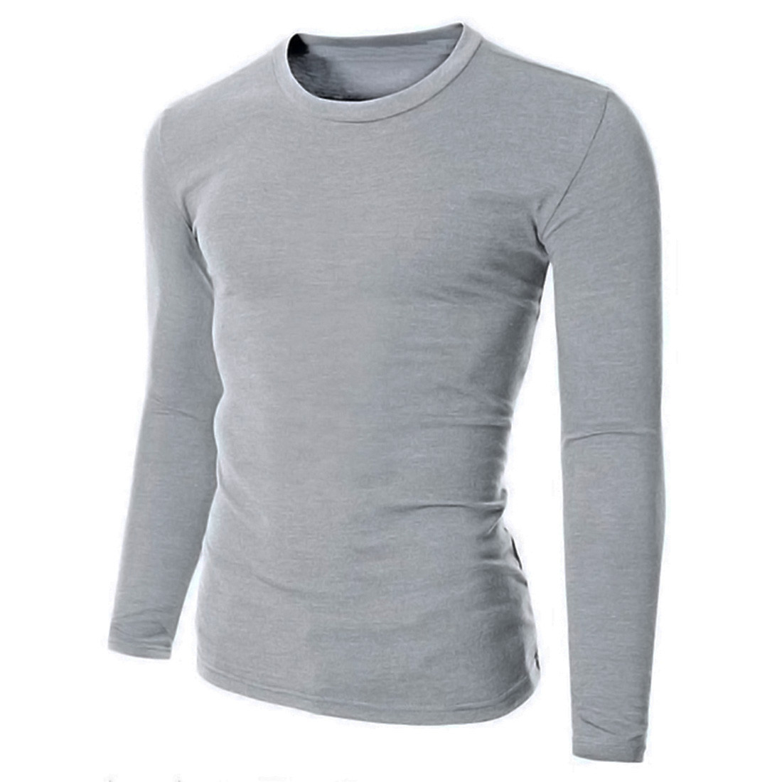7db9e6972c4 Product Description  Mens Fashion Crew Neck Long Sleeves Plain T-Shirt Slim  Fit Casual Shirt Top Basic Tee Package included  1 Shirt Brand  INCERUN