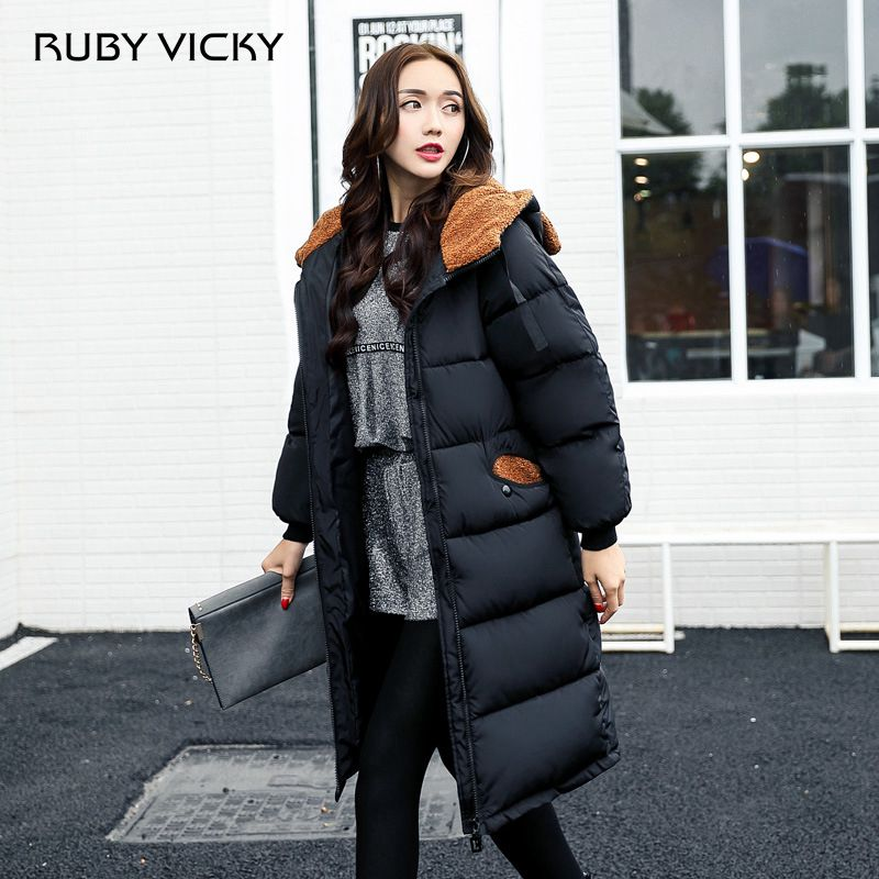 New Plus Size M-2xl Warm Parkas For Women Winter Coat Long Jacket Female Overcoat High Quality Thick Hooded Cotton Padded Coat