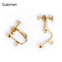20pcs/Lot Screw Ear Clip DIY Handmade Earrings Findings Jewelry Parts Wholesale AS05