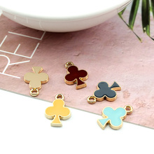 6pcs korean style cute diy handmade colorful jewelry accessories alloy drops oil pendant earrings for women material wholesale
