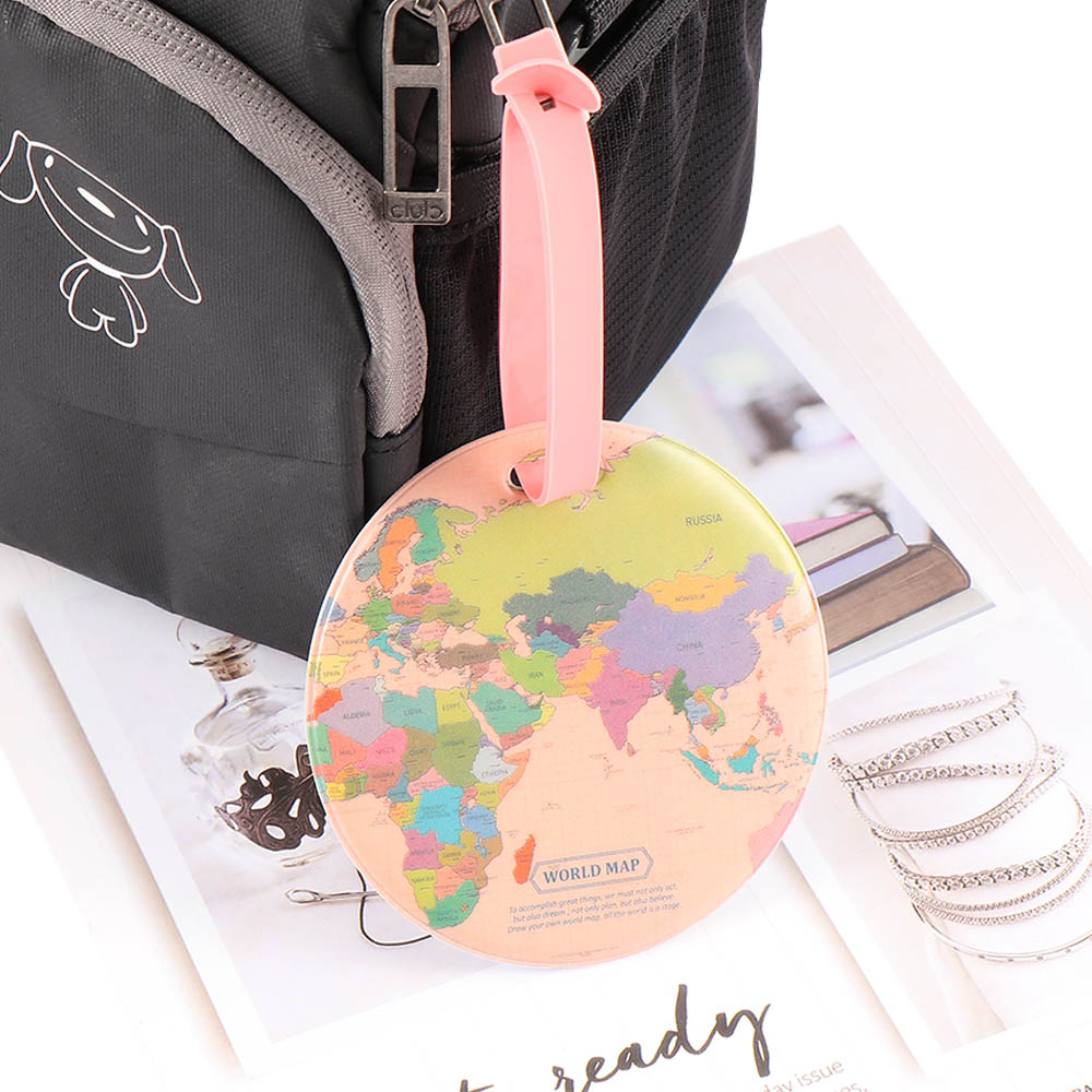 New Map Luggage Tag Women Travel Accessories Silica Gel Suitcase ID Address Holder Portable Label Baggage Boarding Tag
