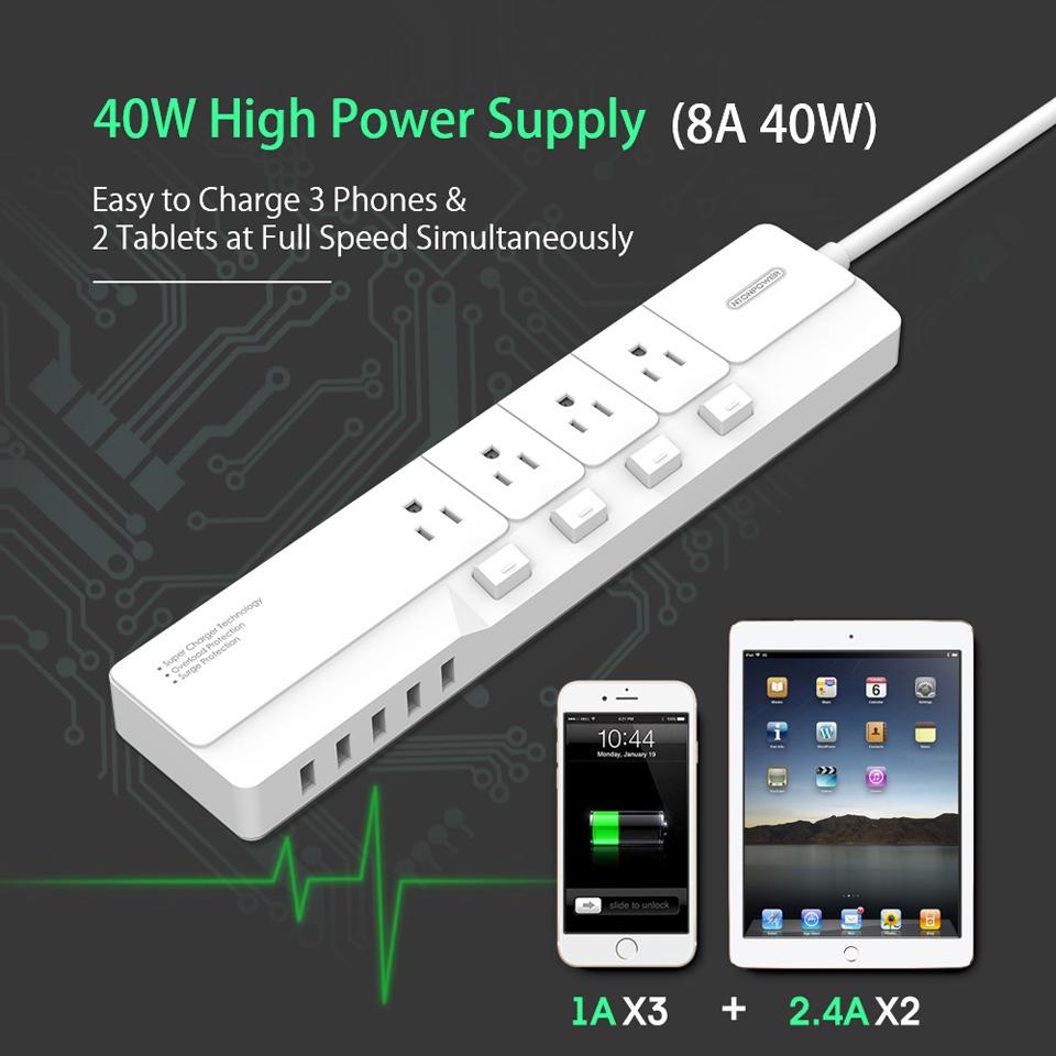 NTONPOWER NSJ US Plug Power Strip (5)
