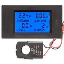 AC Single Phase Digital LCD Wattmeter Power Meter 220V 100A Energy Monitor Watt Meter For Homekit PZEM-061 with Split CT 3ld2y frame size120 120 low price lcd three phase measure fire monitor digital multifunction meter for industrial usage