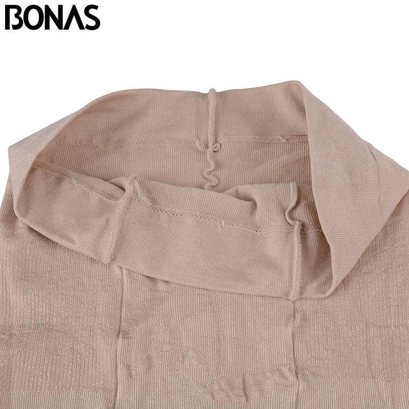 BONAS ฉีกขาด Pantyhose ผู้หญิงเซ็กซี่ Breathable Tights บางสีดำผิวไนลอนความยืดหยุ่นสูงถุงน่อง Pantyhose หญิง