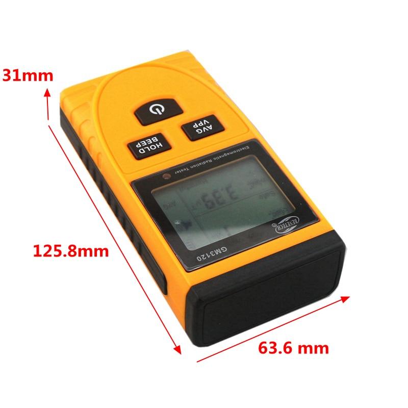 GM3120 ЖК-детектор электромагнитного излучения тестер Измеритель излучения дозиметр счетчик измерения для компьютера мобильного телефона
