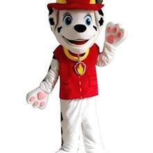 Лидер продаж Профессиональный талисман костюм взрослый размер Профессиональный Прекрасный милый красный собака талисман костюм