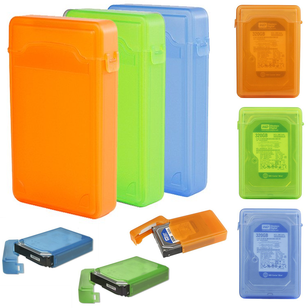 """Shockproof Plastic 3.5 Inch IDE SATA External HDD Protective Case 3.5"""" Hard Drive Storage Box"""
