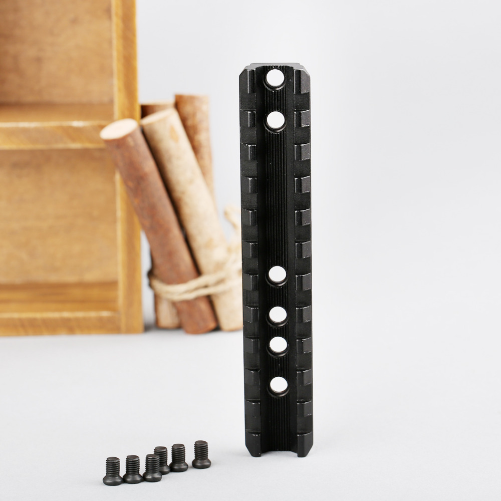 Tactische 120mm 11 slots fit 20mm Picatinny Weaver Riser Rail Base - Jacht - Foto 6