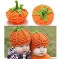 2016 New Baby Crochet Hats Halloween Newborn baby cap Toddler Pumpkin Handmade knitting hat Newborn Photography Photo Props Hat