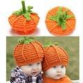 2016 new baby crochet chapéus cap bebê recém-nascido da criança do dia das bruxas abóbora handmade knitting hat newborn fotografia foto props hat
