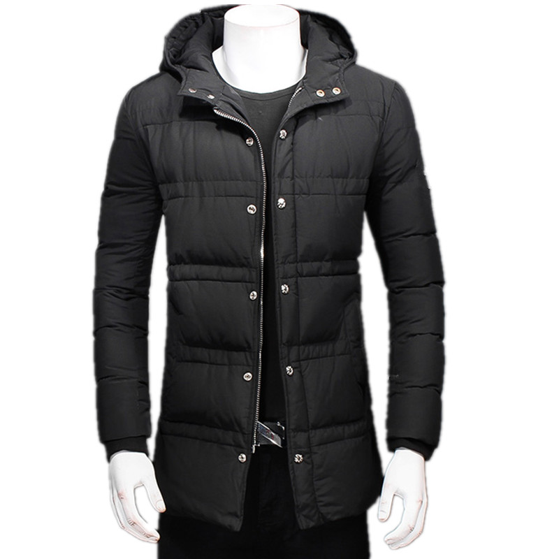 In the winter of 2016 the new style of men's long dark buckle zipper cotton-padded clothes in the winter jacket coat