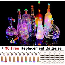 Hot Bottle Cork Lights 10 Pack Fairy Lights 30 Batteries Pre installed+30 Free Battery Replacement Included Battery Operated LED