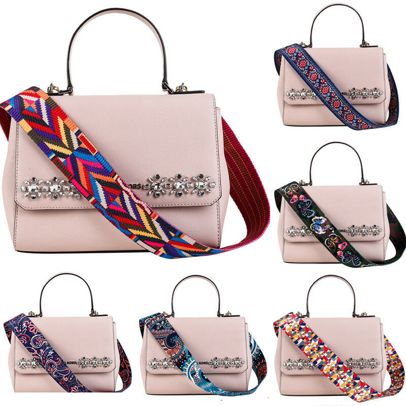 2019 Fashion Colored Belt Bags Strap Replacement Purse Canvas Strap Decorative Handle Shoulder Crossbody Handbag Bag Hot Sale