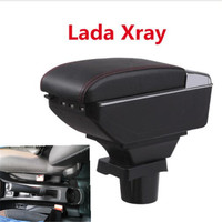 For Lada Xray armrest box central Store content Storage box Lada armrest box with cup holder ashtray USB interface|Armrests|   -