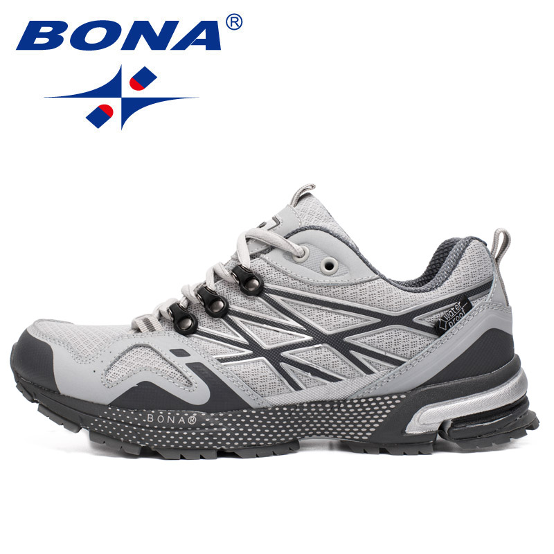 BONA New Waterproof Style Men Running Shoes Outdoor Jogging Walking Shoes Men Comfortable Sport Shoes Soft