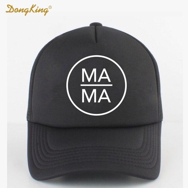 80c4e5ece137e DongKing Fashion Trucker Hat MAMA PAPA BABY Printed Family Gift Couples  Cool Baseball Snapback Caps Meth Cap Men Women Child