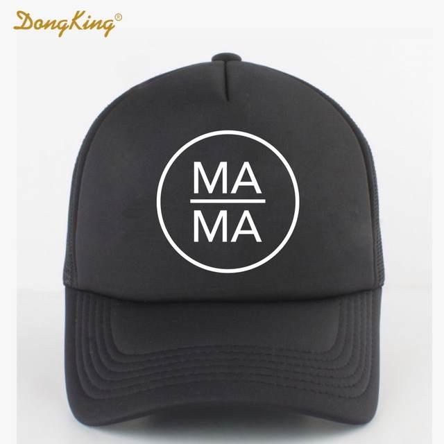 Online Shop DongKing Fashion Trucker Hat MAMA PAPA BABY Printed Family Gift  Couples Cool Baseball Snapback Caps Meth Cap Men Women Child  b6cbf9c329d1