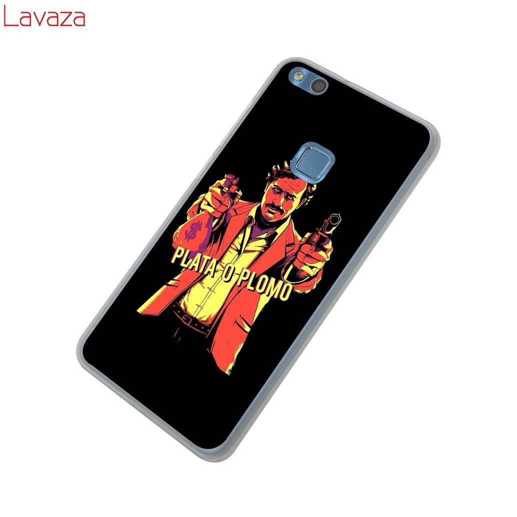 new product e1993 3cdb9 Lavaza Pablo Escobar Supreme Sticker Hard Case for Huawei P20 P10 P8 P9  Lite Plus 2016 2017 P20 Pro P smart 2019 Cover