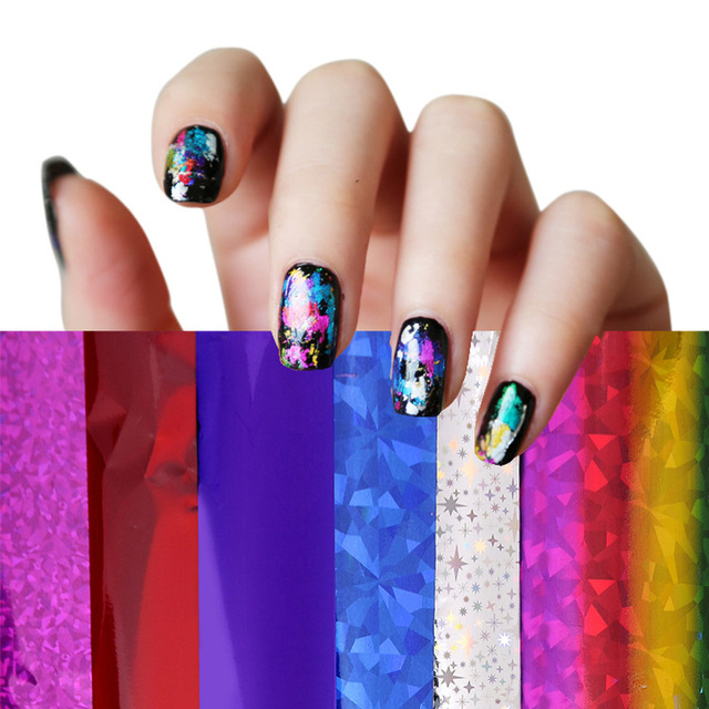 4cm 30cm Transfer Foil Nail Art Star Design Sticker Decal For Polish Care  DIY Free Shipping Colorful Nail Art-in Stickers   Decals from Beauty    Health on ... 63de5816b49f