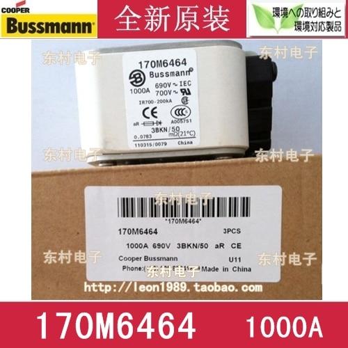 [SA]US imports BUSSMANN Fuses 170M6464 170M6464D 1000A 690V fuse rosenberg 6464