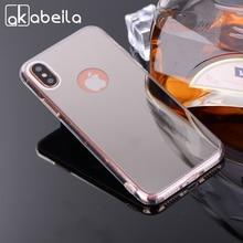 Akabeila телефон Чехлы для iphone 8 чехол ТПУ зеркало для apple iphone 8 iPhone8 5.1 дюймов Чехлы Назад кожа Сумки