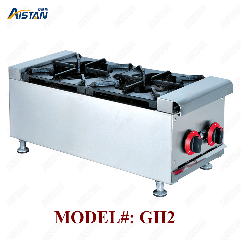 GH2 2 comercial-faixa de queimador de gás da parte superior contrária/fogão/fogão de arroz claypot e equipamentos de cozinha cozinha