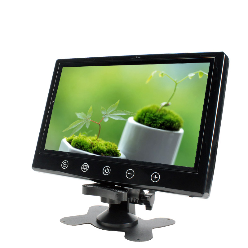 New 9 inch TFT LED Color Screen Car Monitor 800 *600 pixels Stand Alone Monitor with dual video inputs Black color SH9087