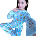 2017 женская Пижама С Длинным Рукавом О-Образным Вырезом Фланелевую Пижаму Устанавливает Теплые Пижамы Пижамы Домашняя Одежда Для Женщин Pijamas Mujer