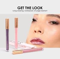 2018newLipstick FOCALLURE 12 New Arrival Shimmer Lip Gloss Waterproof Matte Lipstick Metal Rose Golden Lip Gloss